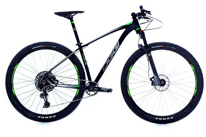 Bicicleta Aro 29 OGGI Big Wheel 7.5 2019 12V Eagle Preto/Verde