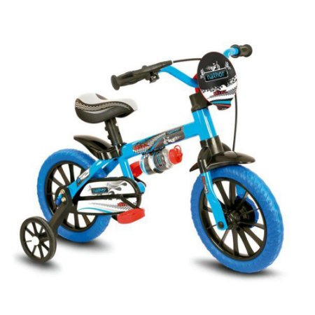 Bicicleta Aro 12 Nathor Veloz Preto/Azul