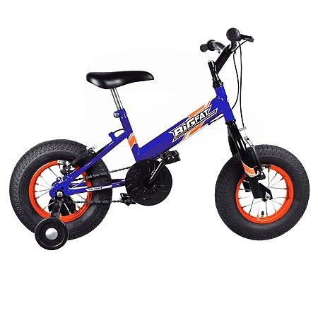 Bicicleta Aro 16 Ultra Bikes Big Fat Azul/Laranja