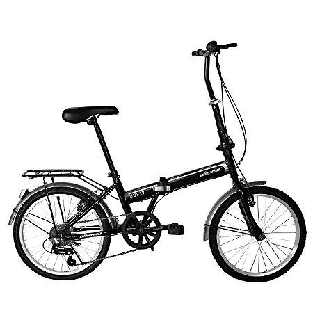 Bicicleta Aro 20 Elleven Dobrável Preta
