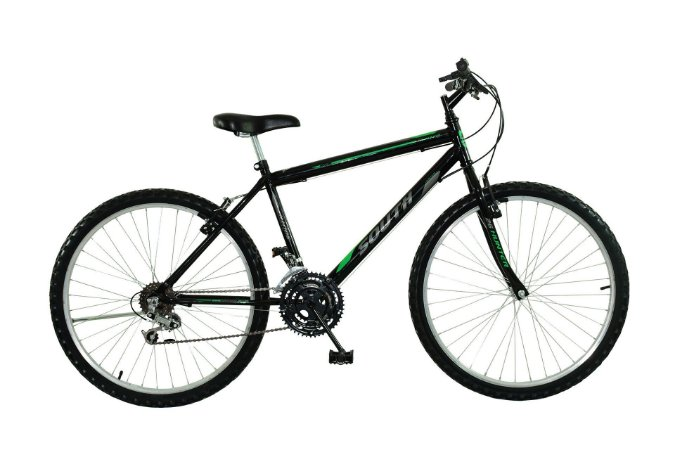 Bicicleta Aro 24 South Bike 18V Preta Masculina