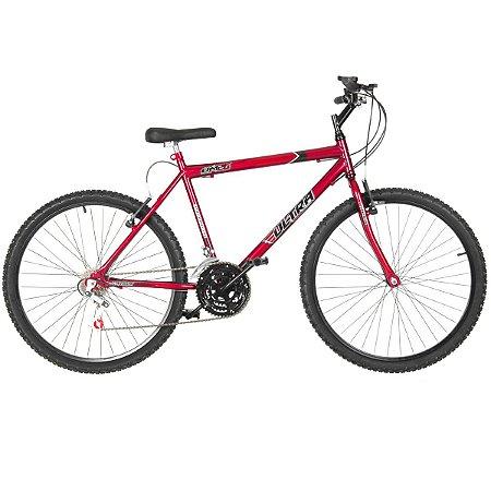 Bicicleta Aro 24 Ultra Power Soft 18V Vermelha Masculina