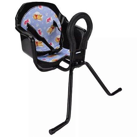 Cadeira Criança p/ Bike Dianteira Pojda Luxo Preta