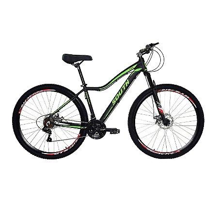 Bicicleta Aro 29 South Schon 2019 21V Preto/verde Feminina