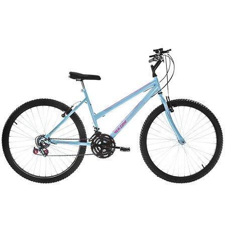 Bicicleta Aro 26 Ultra Power Soft 18V Azul Feminina