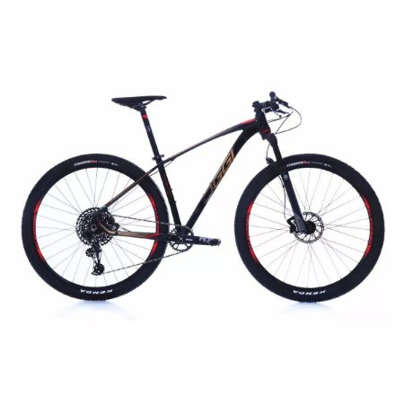 Bicicleta Aro 29 OGGI Big Wheel 7.5 2019 12V Eagle Preto/Dourado/Vermelho