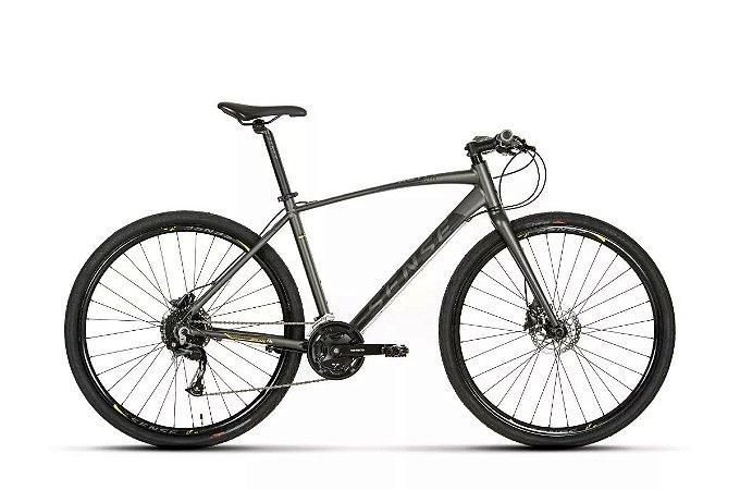 Bicicleta Aro 700 Sense Activ 2019 27 V Cinza/Amarelo