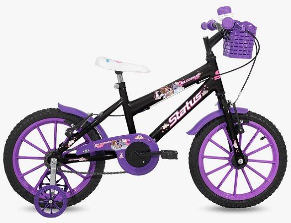 Bicicleta Aro 16 Status Preto Brilho