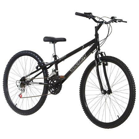 Bicicleta Aro 26 Ultra Bike Rebaixada 18V Preto