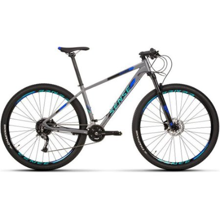 Bicicleta Aro 29 Sense Rock Evo 18V Cinza/Azul Lançamento 2020
