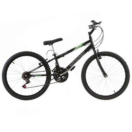 Bicicleta Aro 24 Ultra Technology 18V Preto