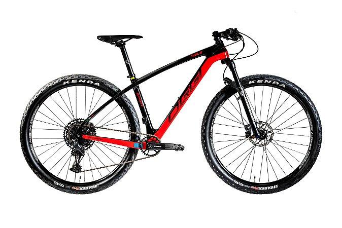Bicicleta Aro 29 Oggi Agile Sport SX Carbon 12 Vel. Preto/Vermelho Lançamento 2020