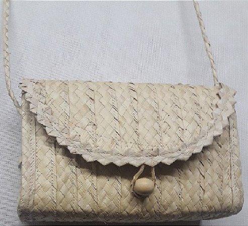 Bolsa Maré Alça de Ombro Retangular Natural