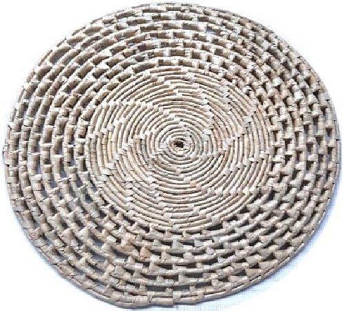 Suplar Palha de Carnaúba Redondo Natural 32cm