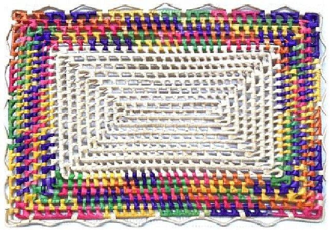 Jogo Americano Palha de Carnaúba Colorido 45x33 G
