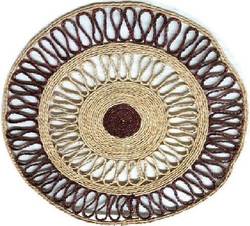 Suplar Palha de Buriti Redondo Colorido 37cm