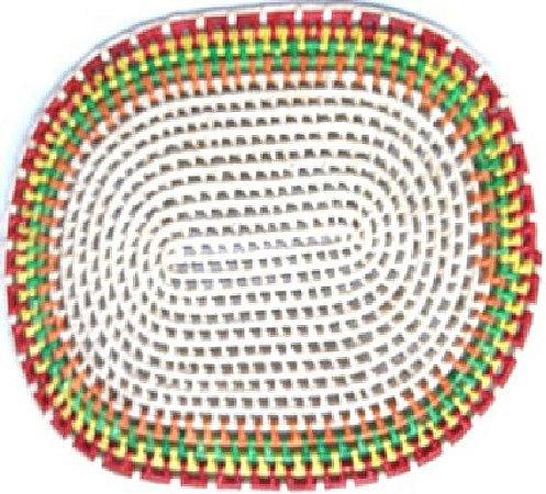 Suplar Palha de Carnaúba Vazado Oval Colorido 45X33cm