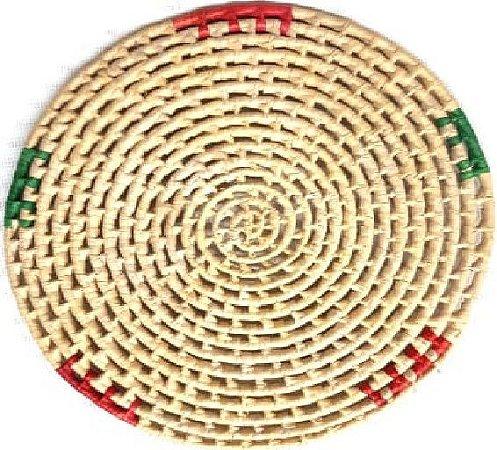 Suplar Palha de Carnaúba Vazado Colorido 29cm
