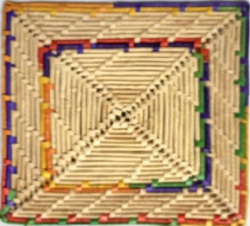 Suplar Palha de Carnaúba Mare Quadrado Colorido 30x30cm