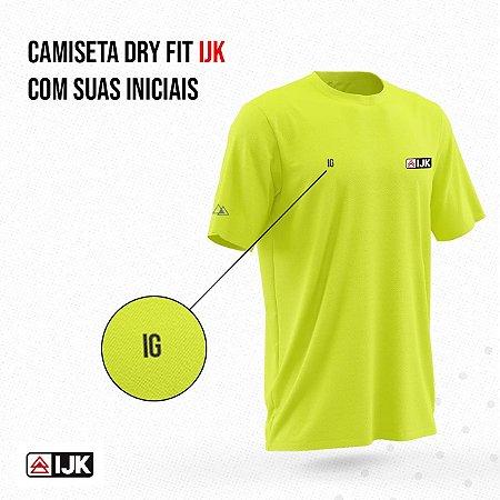Camiseta Dry Fit IJK (Personalize com suas iniciais, coloque até 3 letras no Campo Nome)