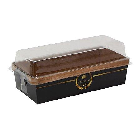 Forma para bolo ingles / caserinho  - black (com tampa)- 10 unidades