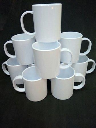 Caneca Plastica Polimero - caixa com 20 unidades