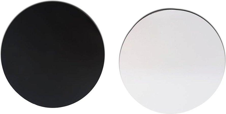 Mouse pad branco para sublimação redondo 18 cm - 100 unidades
