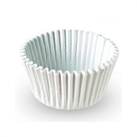 Forminha impermeável cup cake branco - 75 unidades