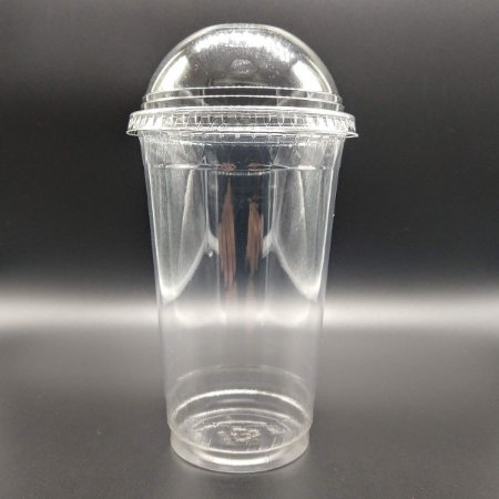 Copo pet 480 ml tampa bolha c/ furo 98mm  - 50 unidades