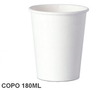 Copo Papel  180 ml  - 25 unidades