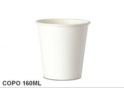 Copo papel + tampa sem furo - 160 ml - 25 unidades