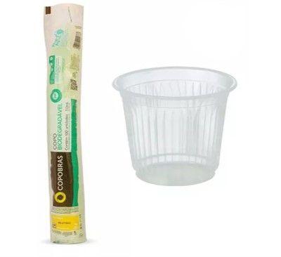 Copo biodegradável 50 ml PP 100 unidades