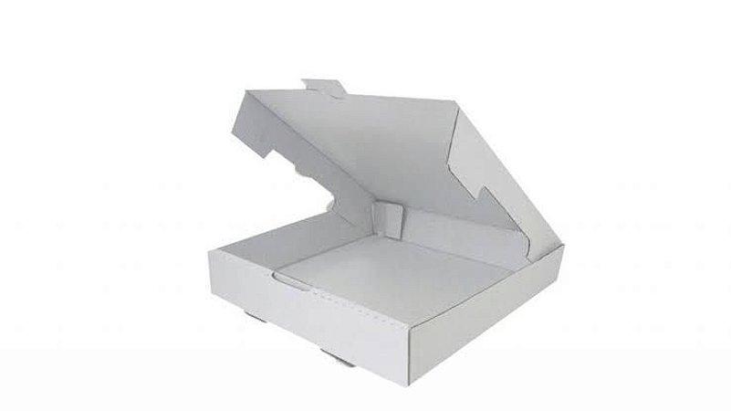 Caixa conjugada branca para doces e Salgados M 25x25x6 cm - 10 unidades