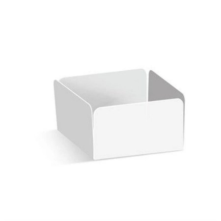 Forminha reta para doce branco 3,5 x 3,5 x 2 - 100 unidades