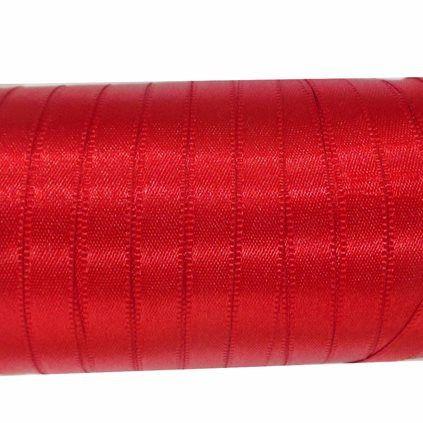 Fita de cetim liso vermelho 3,5 mm x 100 m com 01 unidades panetone