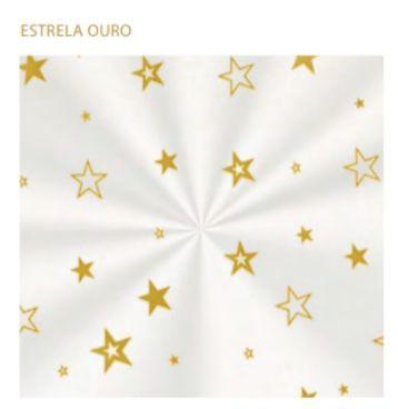 Saco transparente natal estrela 15 x 22 cm  - 100 unidades panetone 100 gr