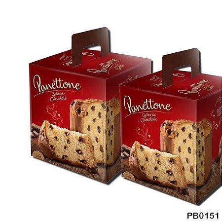 Caixa de Panetone 500 gramas Chocolate - 05 unidades