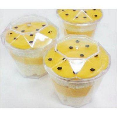 Tacinha para doce com tampa 20 ml  - 10 unidades