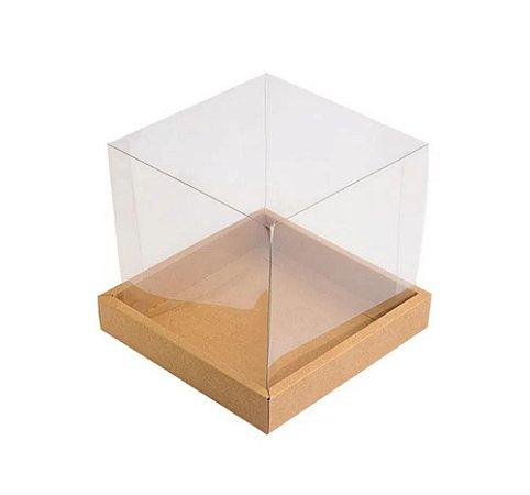Caixa de acetato panetone 500 gramas - 05 unidades