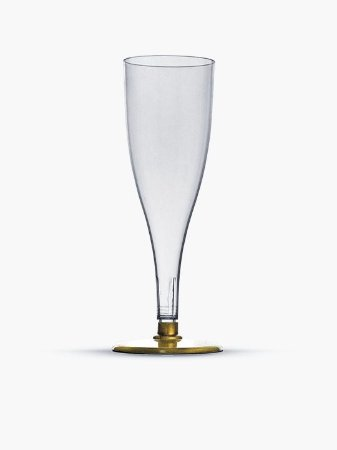 Taça champagne base dourada Pit -140 - 05 unidades