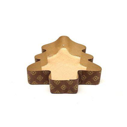 Forma forneavel arvore panetone ou pães Grande 224x312| x 60 mm  - 05 unidades
