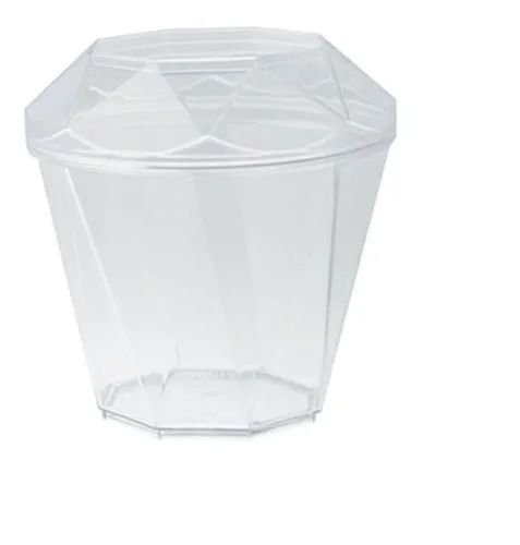 copo diamante com tampa 180 ml - 10 unidades