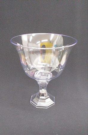 taça acrilica 1250 ml para sobremesas ou decoração - pé transparente