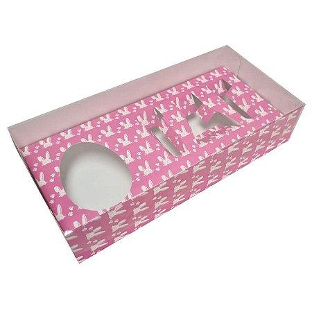 Kit confeiteiro coelho rosa pascoa - 150 gramas - 05 unidades