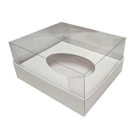 Caixa para ovo de pascoa de colher 350 gramas branco - 05 unidades