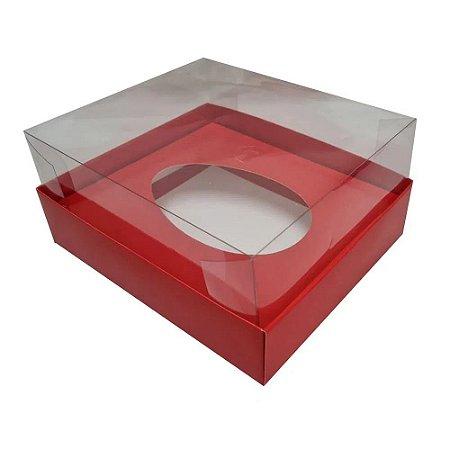 Caixa de ovo de pascoa de colher - vermelha - 350 gr - 05 unidades