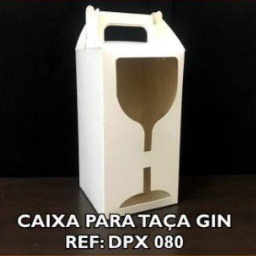 Caixa Sublimável C/ Visor Taça Gin - 20 Unidades