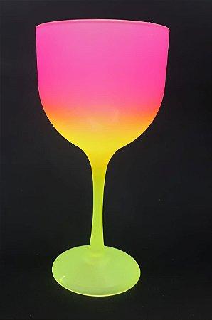 Taça gin degrade  amarelo e rosa 580 ml - 5 unidades