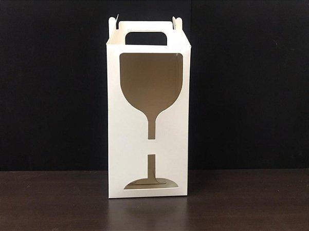 Caixa Sublimável C/ Visor Taça Gin -100 Unidades