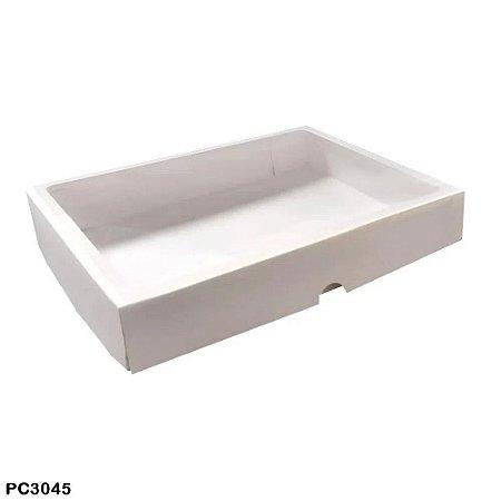 caixa para doces com visor  branco  22x29x4,5 10 unidades